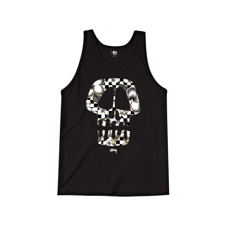 Stussy Flower Skull Tank Black/White