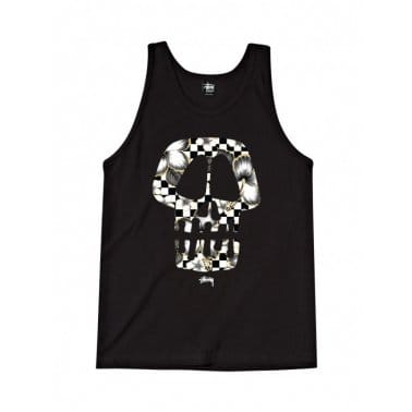 Flower Skull Tank Black/White