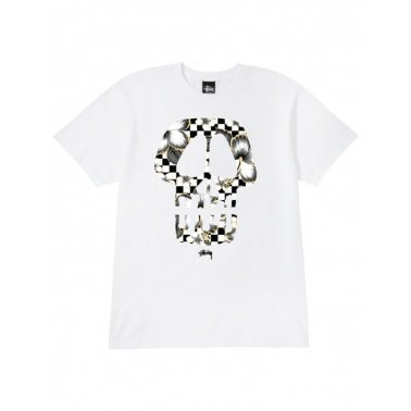 Flower Skull Tee White/Black