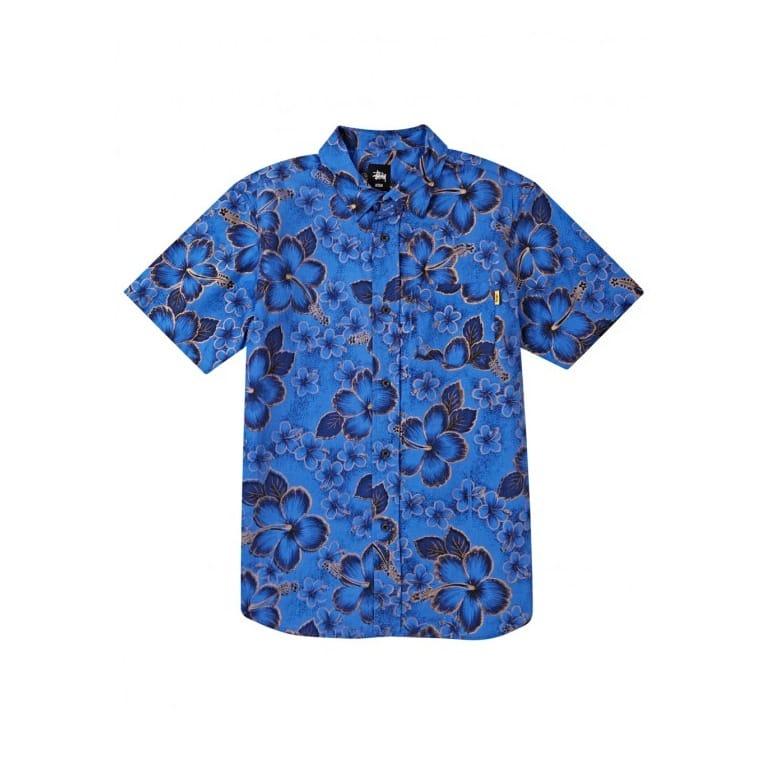 Stussy Gold Flake Shirt - Blue