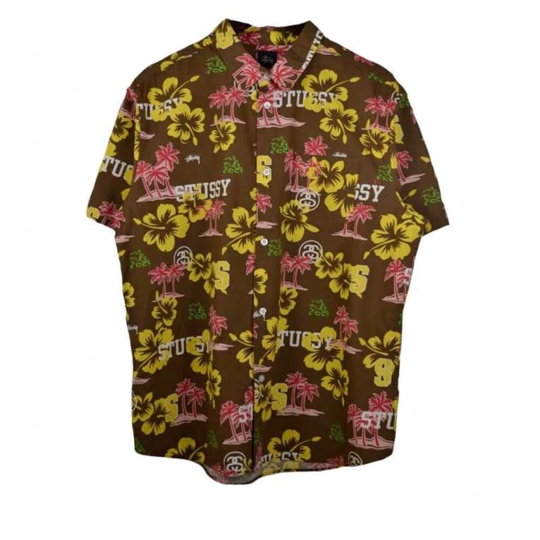 Stussy Hawaiian Shirt - Brown