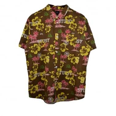 Hawaiian Shirt - Brown