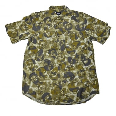 Head Print Shirt - Green