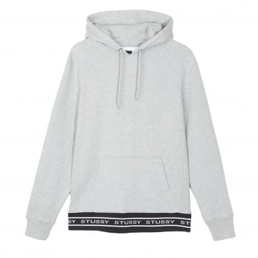 Jacquard Rib Hoodie - Grey Heather