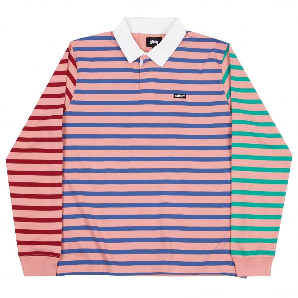 b75d5bc0e9 Stussy Jonah Long Sleeve Rugby Shirt | Clothing | Natterjacks