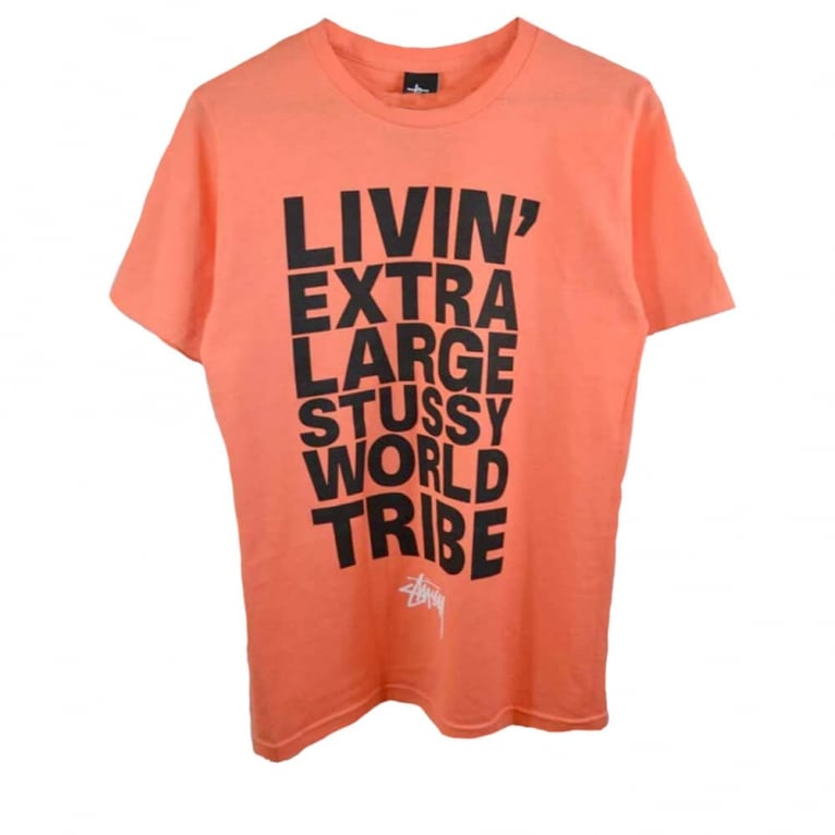 Stussy Livin Block T-shirt - Pale Red