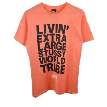 Livin Block T-shirt - Pale Red