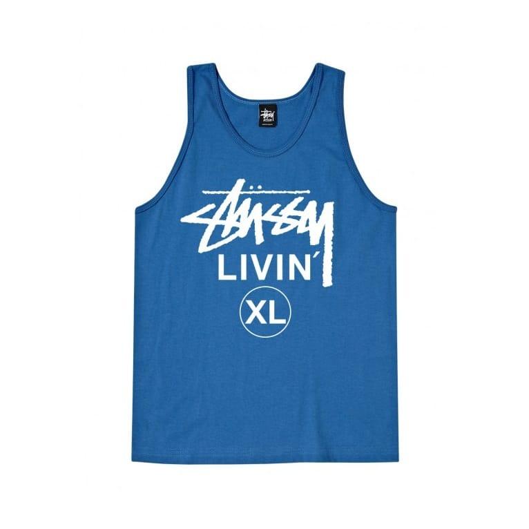 Stussy Livin' Xl Tank Top - Brite Blue