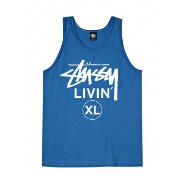 Livin' Xl Tank Top - Brite Blue
