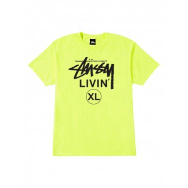 Livin' Xl Tee Neon Yellow