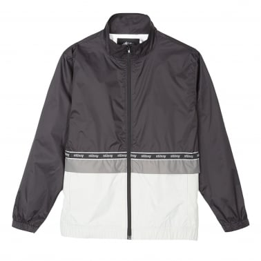 Nylon Warm Up Jacket - Black