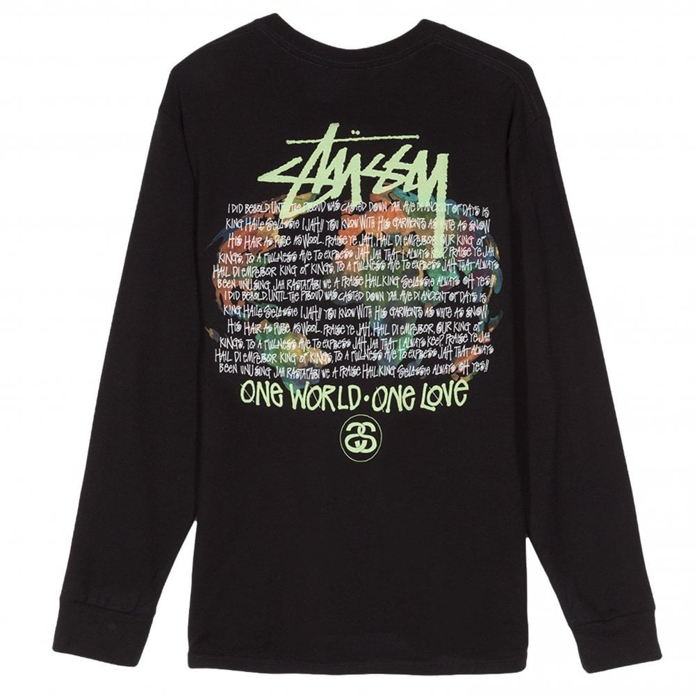One World Long Sleeve T-Shirt - Black