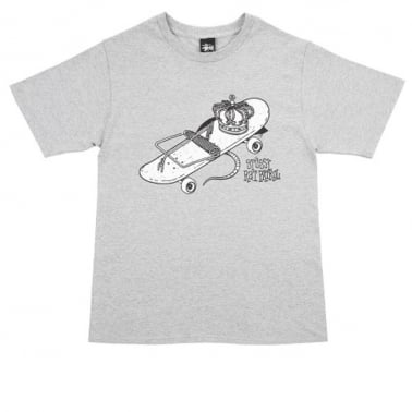 Skate Trap T-shirt - Grey Heather
