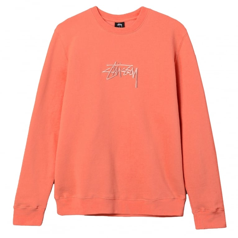 Stussy Stock Applique Crew Neck Sweatshirt