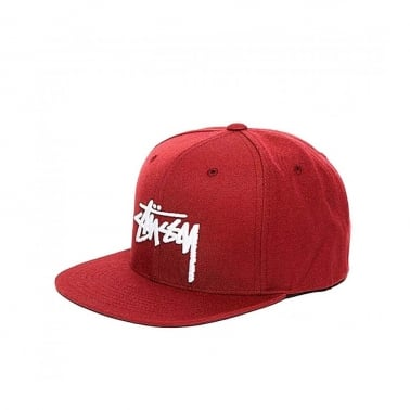 Stock Cap - Burgundy
