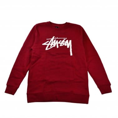 Stock Crew Sweatshirt - Dark Red