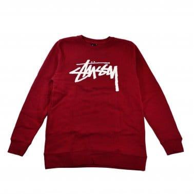 Stock Crew Sweatshirt - Dark Red