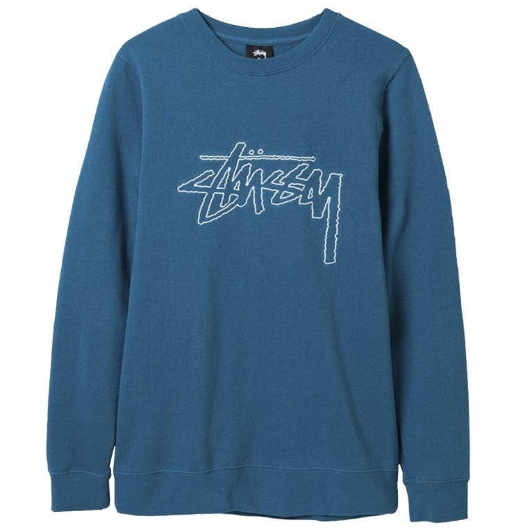 Stussy Stock Outline Crew Sweatshirt