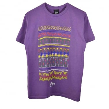 Tribal Box T-shirt - Purple