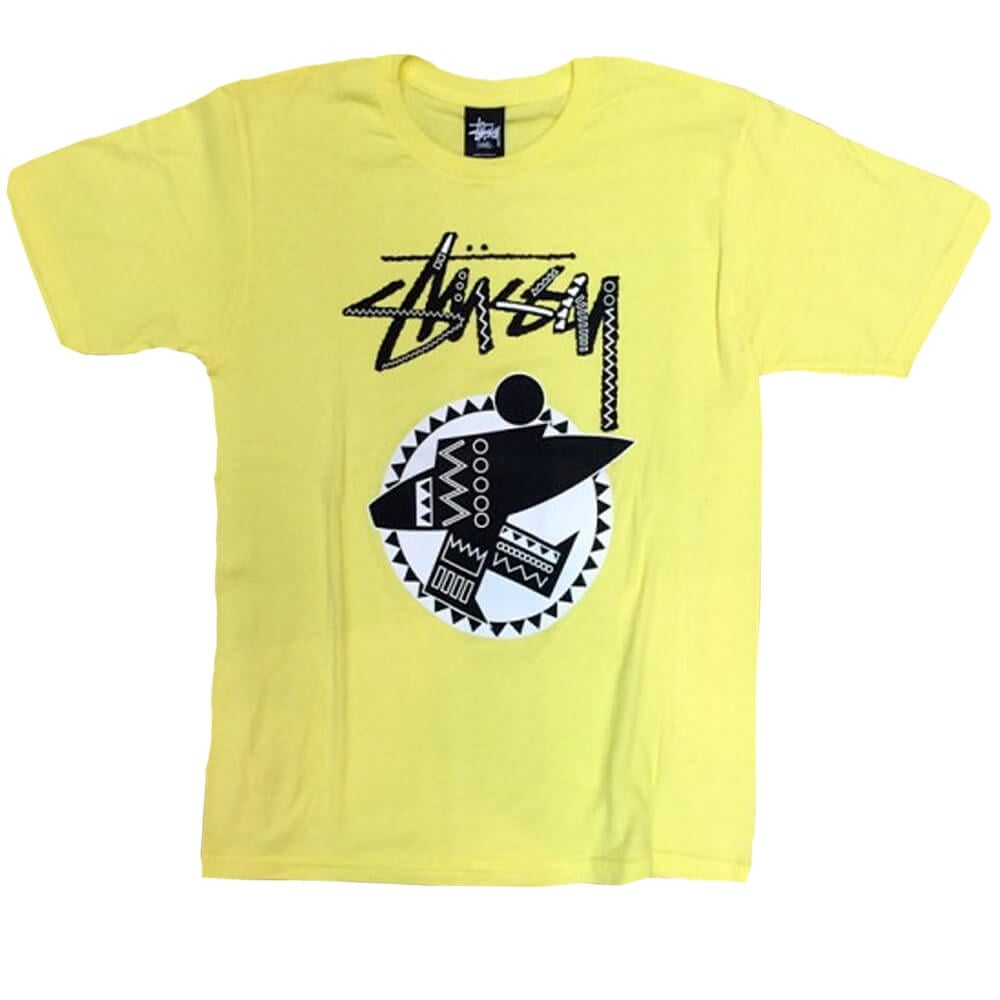 Buy Stussy Tribal Surf T Shirt In Yellow Stussy