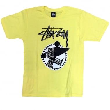 Tribal Surf T-shirt - Yellow