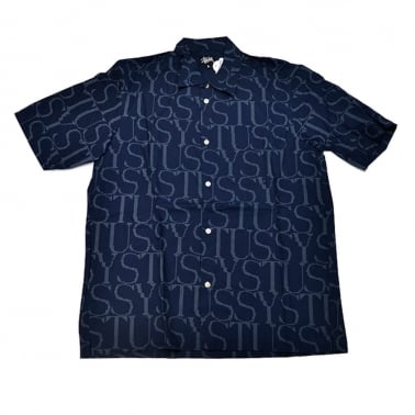 Type Face Short Sleeve Shirt - Navy