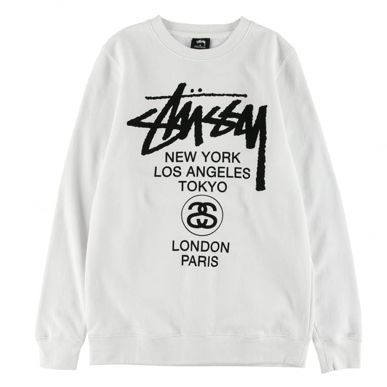 Stussy World Tour Crewneck Sweatshirt