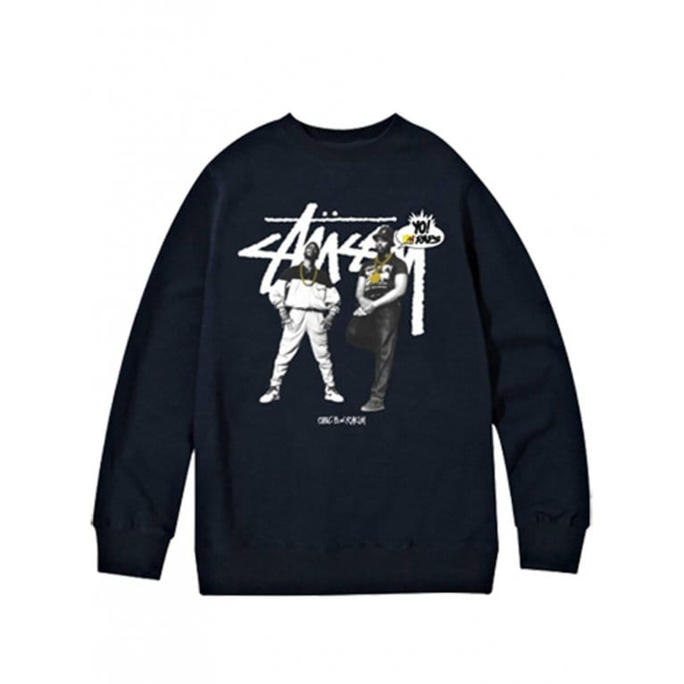 Stussy x Yo! MTV Raps Yo! MTV Raps Eric B And Rakim Sweatshirt - Black