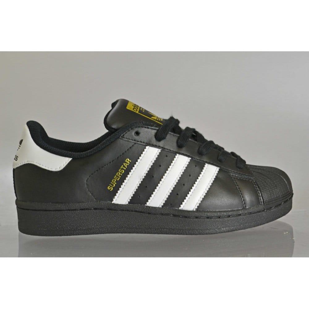 débiles Medieval terrorismo  Adidas Originals Superstar Foundation Juniors Black/White