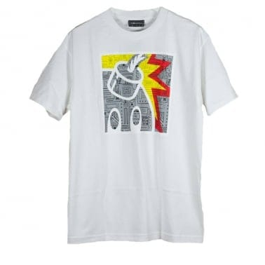 Geo Square T-shirt - White