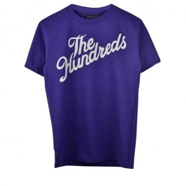 Palms T-shirt -  Purple