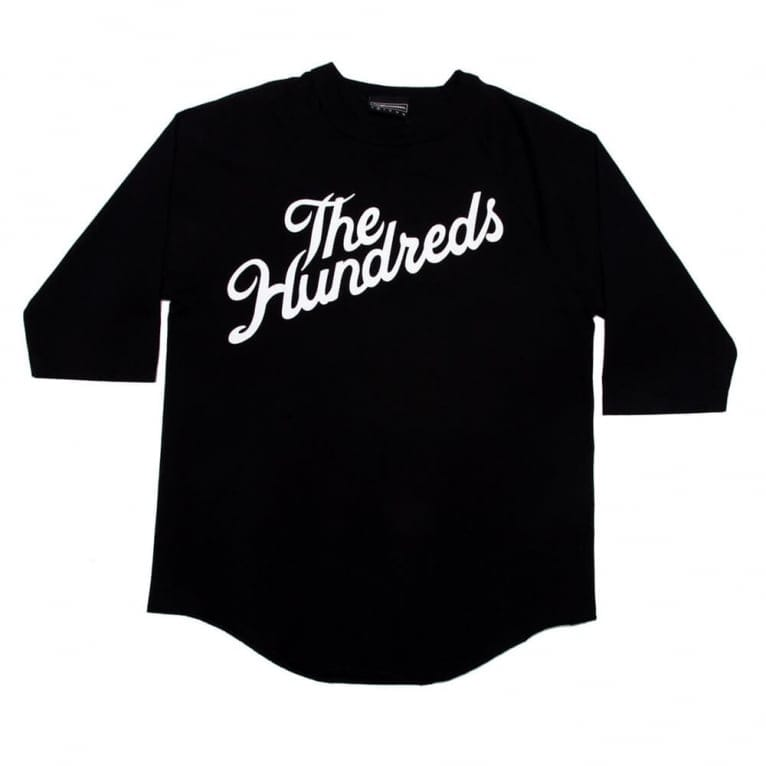 The Hundreds Slant Raglan Jersey - Black/Black