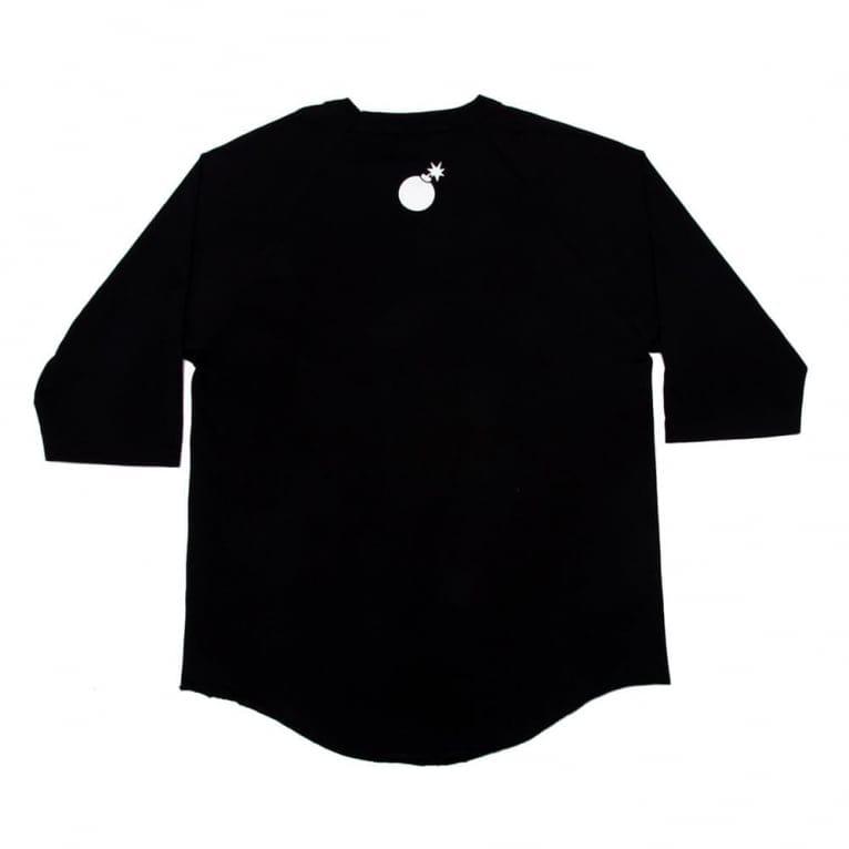 The Hundreds Slant Raglan Jersey - Black/Black