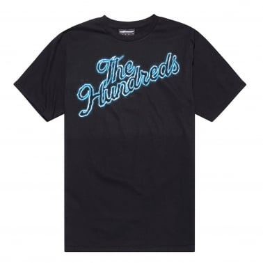 Thunder Slant T-Shirt - Black