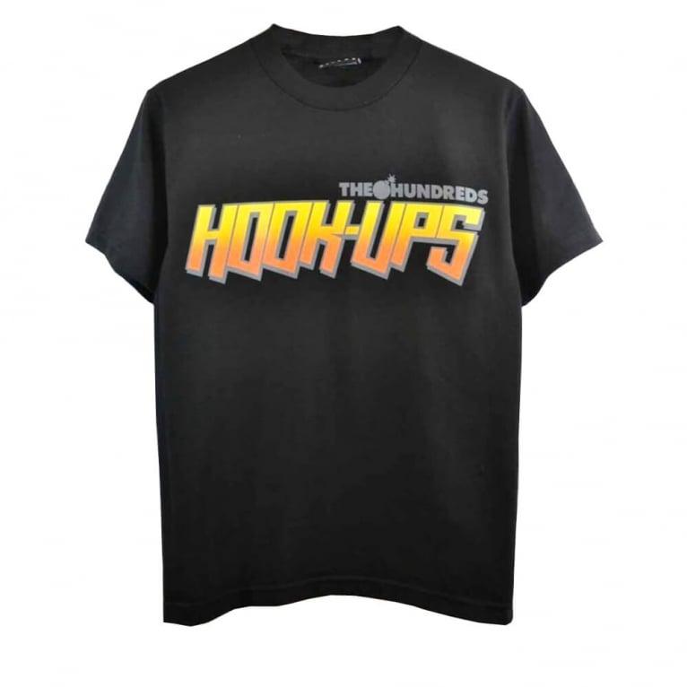 The Hundreds X Hook-ups Thxhu Logo T-shirt - Black