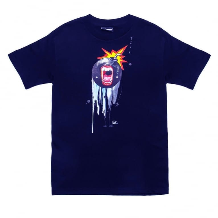 The Hundreds x Lora Zombie Open Wide T-shirt - Navy