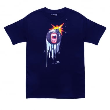 x Lora Zombie Open Wide T-shirt - Navy