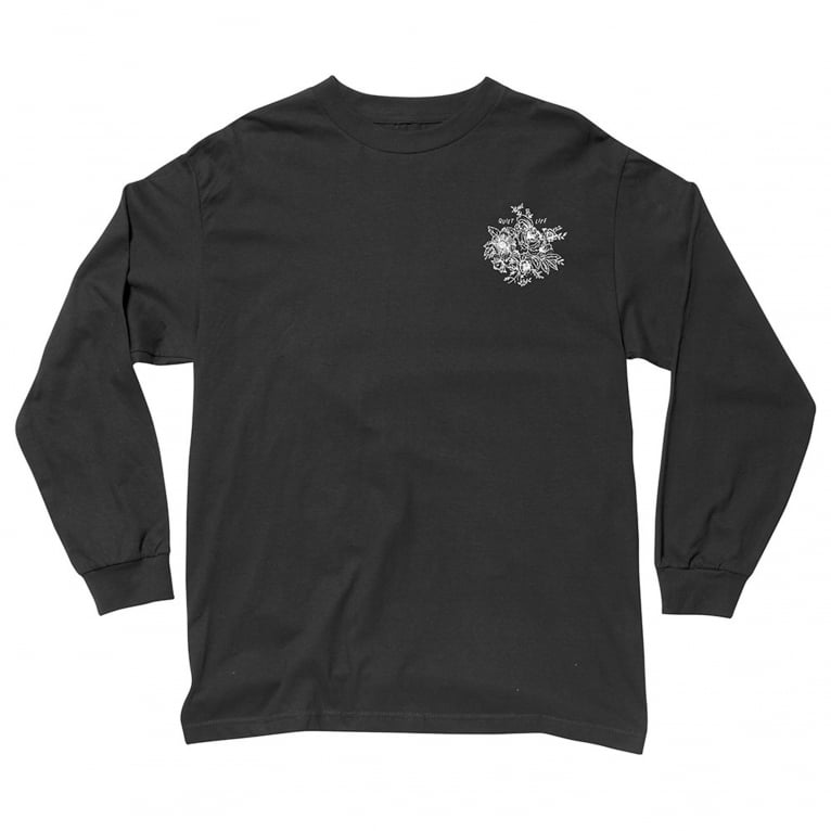 The Quiet Life Duggan Long Sleeve T-Shirt - Black