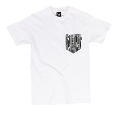 Ikat Pocket Tee White