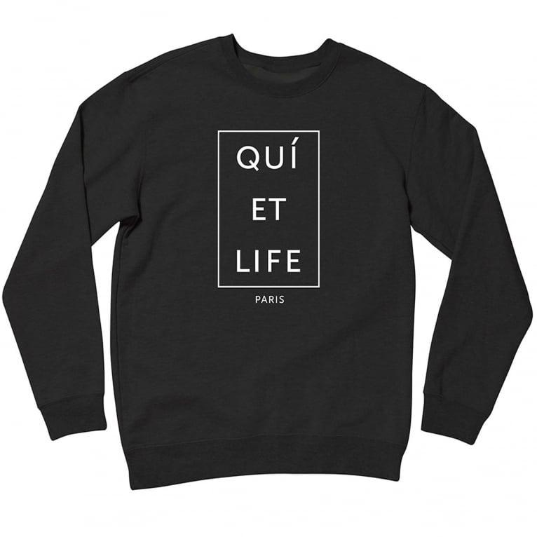 The Quiet Life Paris Crewneck - Black