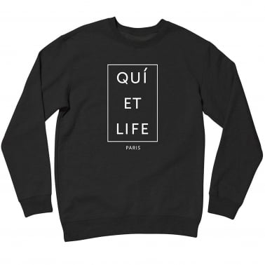 Paris Crewneck - Black