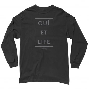 Paris Long Sleeve T-shirt - Black