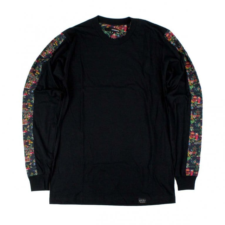 The Quiet Life Peony Long Sleeve Tee - Black