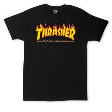 Flame Logo T-shirt - Black