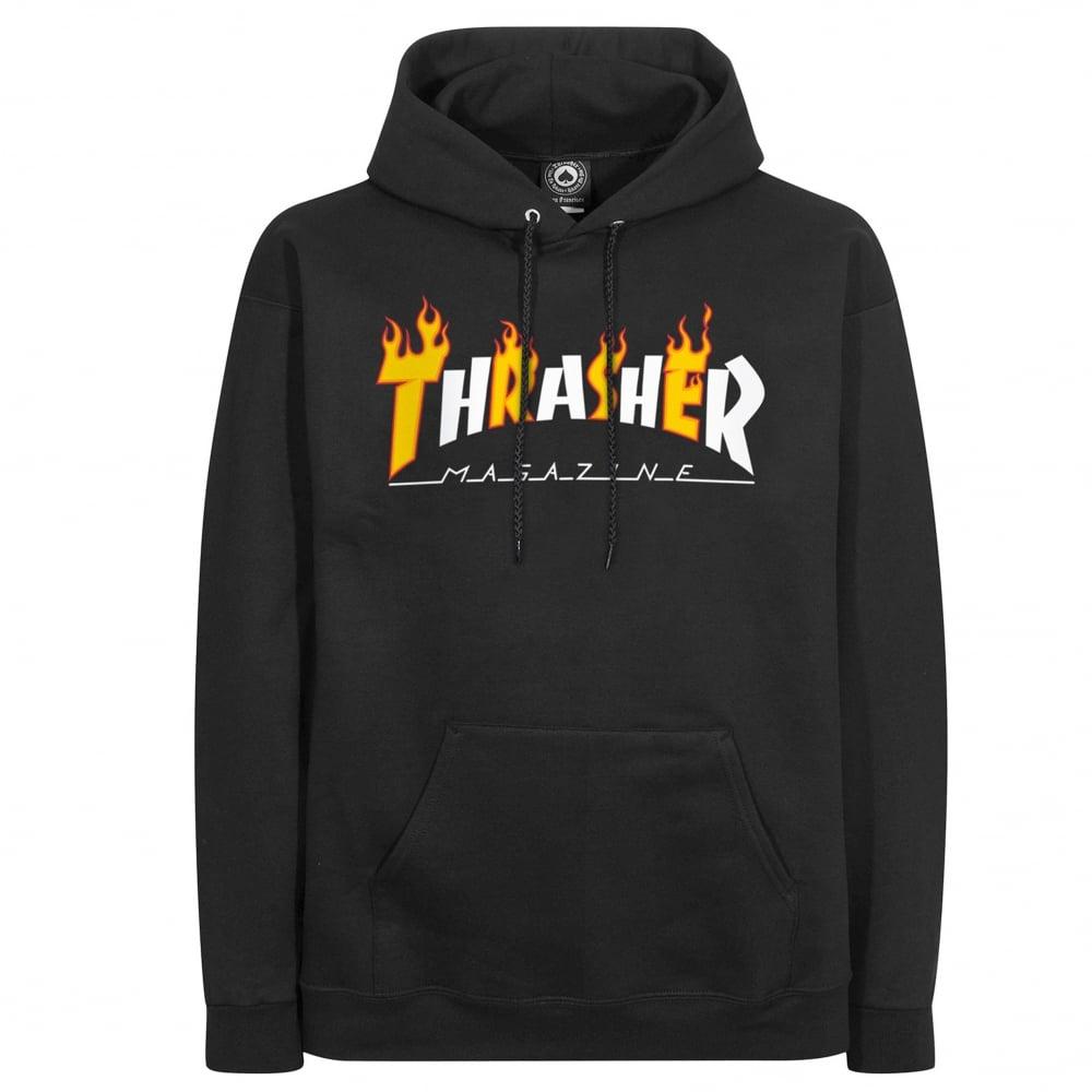 Thrasher Flame Mag Hood - Black