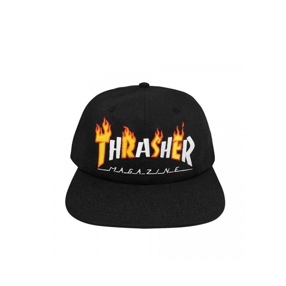 2e5fc2f0ad0 Thrasher Flame Mag Snapback