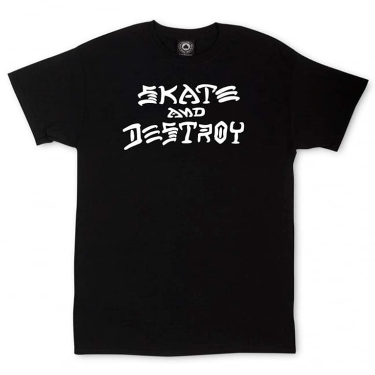 Thrasher Skate & Destroy T-Shirt - Black