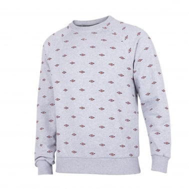 Small Logo All Over Crewneck Sweatshirt