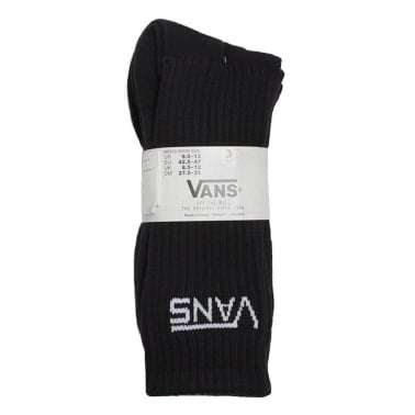 3 Pack of Crew Socks - Black