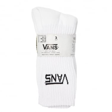 3 Pack of Crew Socks - White